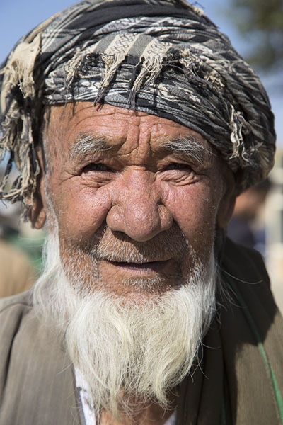 Picture of Afghani people (Afghanistan): Man with grey beard in Bamiyan