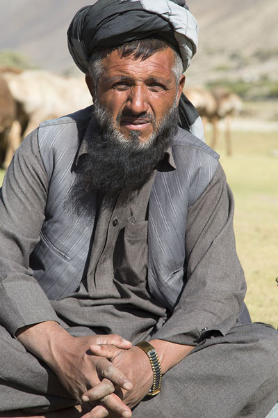 Foto di Shepherd posing for a picture in Panjshir Valley - Afghanistan - Asia