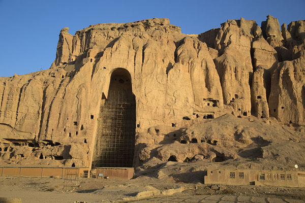 Picture of Bamiyan Buddhas (Afghanistan): Great Buddha niche in the early morning