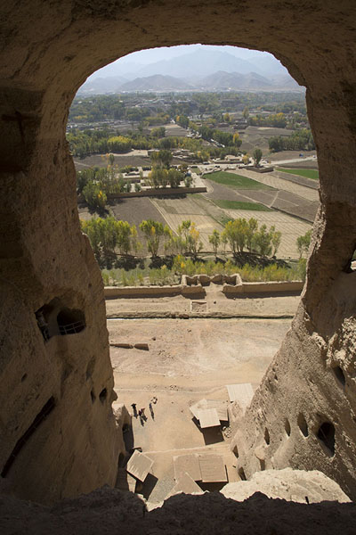 Picture of Bamiyan Buddhas (Afghanistan): View over Bamiyan from the top of the Small Buddha niche