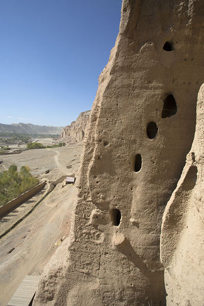 Picture of Bamiyan Buddhas (Afghanistan): View from within the Small Buddha niche, looking west