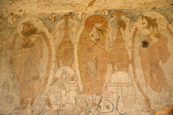 Picture of Frescoes in a cave at the Small Buddha nicheBamiyan - Afghanistan