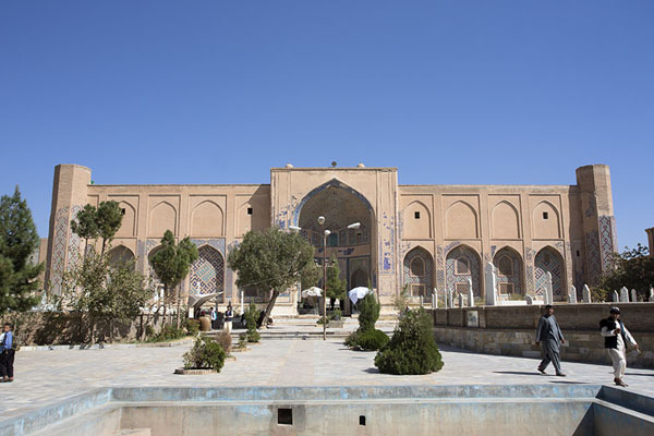Picture of Frontal view of the outside of the shrine of AnsariHerat - Afghanistan