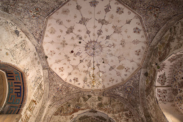 Picture of Gazar Gah (Afghanistan): Looking up the ceiling of the entrance hall of the shrine of Ansari