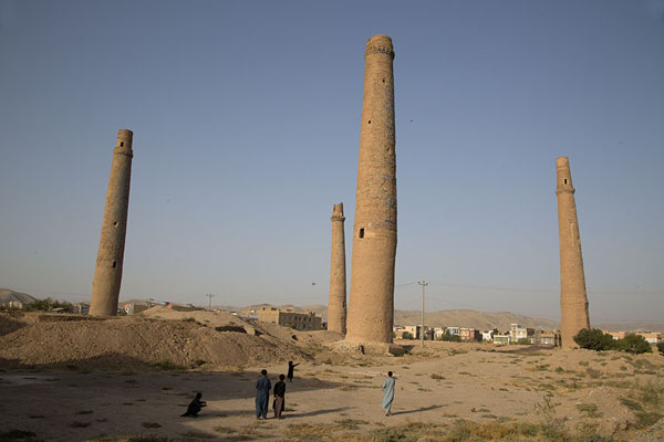The four minarets of the Musalla complex, commissioned by Gowhar Shad | Gowhar Shad Mausoleum | Afghanistan