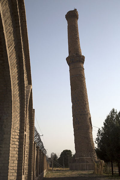 The heavily leaning minaret of the Gowhar Shad mausoleum | Gowhar Shad Mausoleum | Afghanistan