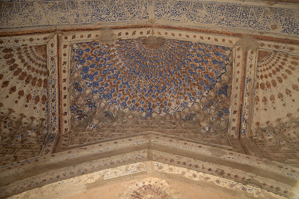 Looking up the ceiling of the mausoleum of Gowhar Shad | Gowhar Shad Mausoleum | Afghanistan