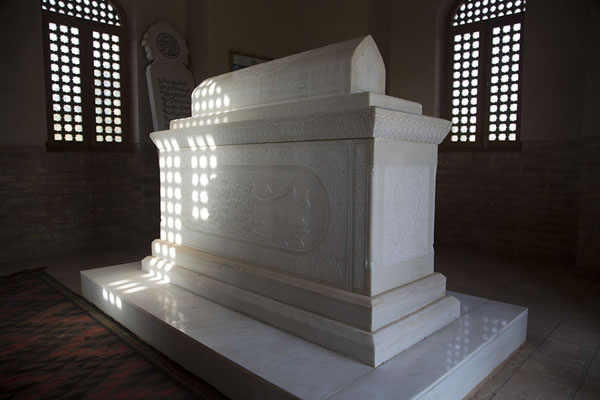 Marble tomb of Mir Ali Shir Nawai in its own mausoleum | Gowhar Shad Mausoleum | Afghanistan