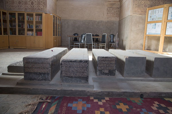 The tombs of Gowhar Shad and relatives in the main mausoleum | Gowhar Shad Mausoleum | Afghanistan