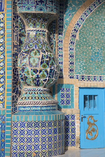 Detail of the Blue Mosque | Hazrat Ali Shrine | Afghanistan