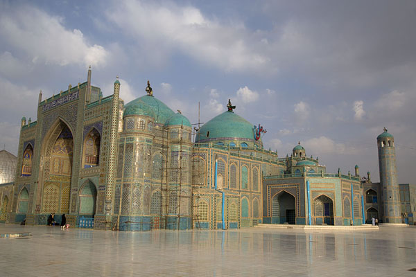Early morning view of the Hazrat Ali shrine | Hazrat Ali Shrine | Afghanistan