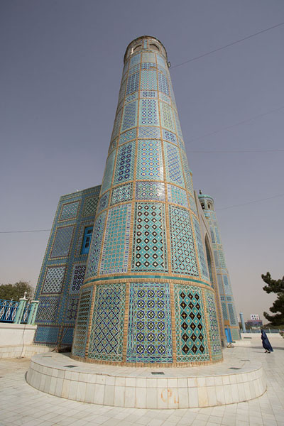 One of the towers of the northern gate of the Blue Mosque | Hazrat Ali Shrine | Afghanistan