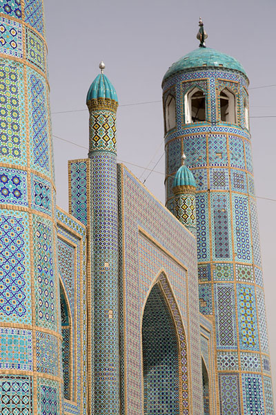 Side view of the norhern entrance gate of the Blue Mosque | Hazrat Ali Shrine | Afghanistan