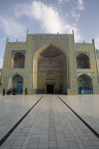 Picture of Early morning frontal view of the entrance of the Shrine of Ali - Afghanistan - Asia
