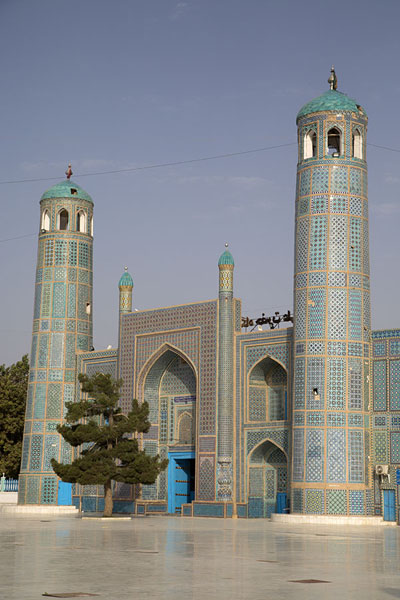 The northern entrance in the morning | Hazrat Ali Shrine | Afghanistan