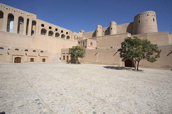 Picture of Courtyard with tree in the citadelHerat - Afghanistan