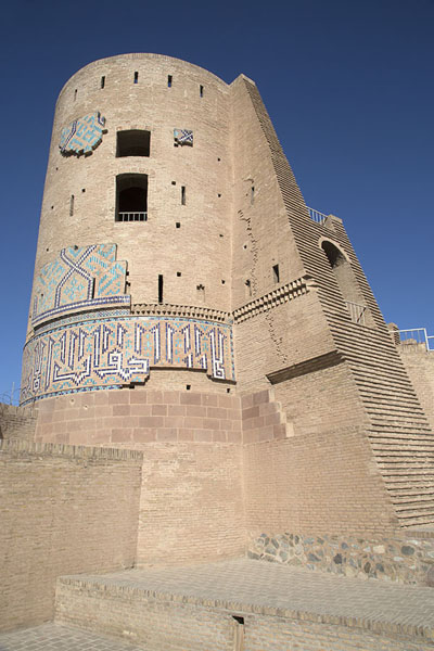 Timurid Tower, or Malik Tower, seen from below | Herat Citadel | Afghanistan