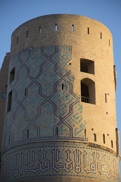 Picture of Some of the original decorations remain on Malik Tower, also dubbed Timurid Tower