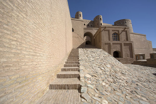 Stone walkway leading to the higher part of the citadel | Herat Citadel | Afghanistan