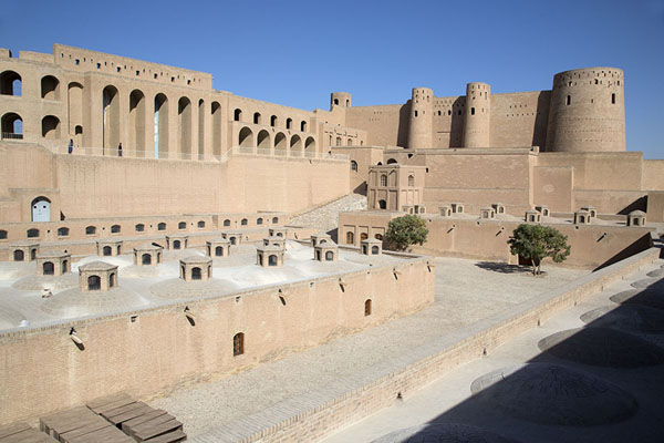 The courtyard of the citadel with the higher part in the background | Herat Citadel | Afghanistan