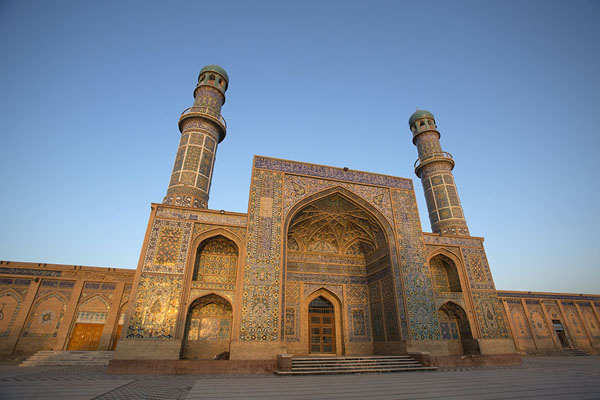 Picture of The entrance of the Friday Mosque of Herat in the early morning - Afghanistan - Asia