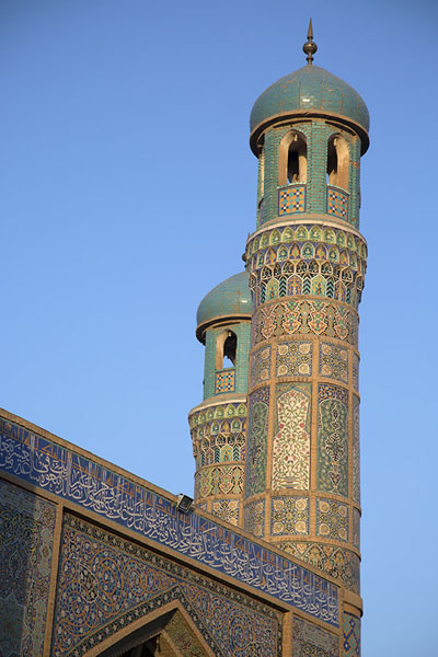Twin minarets on the northern side of the Friday Mosque | Herat Jama Masjid | Afghanistan
