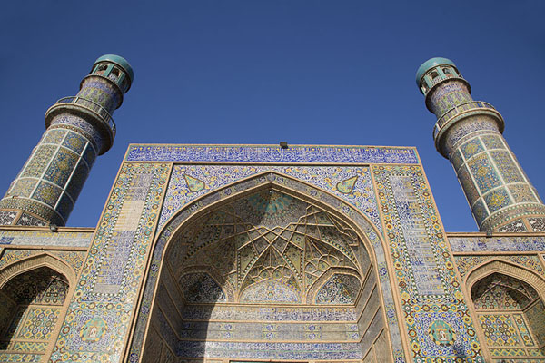 Looking up the main entrance of the Friday Mosque of Herat | Herat Jama Masjid | Afghanistan