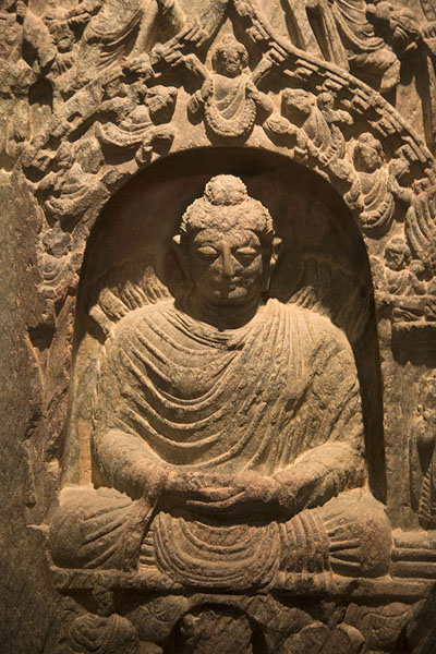 Picture of Kabul Museum (Afghanistan): Statue of a seated Buddha from Shotorak