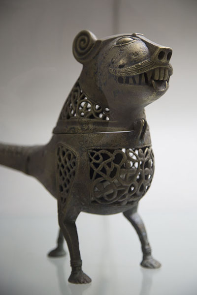 Candle holder with lionhead | Musée de Kaboul | Afghanistan