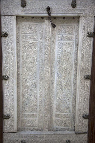 Finely carved marble door, Kabul | Kabul Museum | Afghanistan