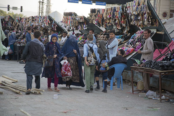 Foto van Section of the bazaar of Mazar-e-SharifMazar-e-Sharif - Afghanistan