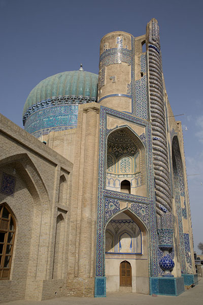 Side view of the Green Mosque of Balkh | Oud Balkh | Afghanistan