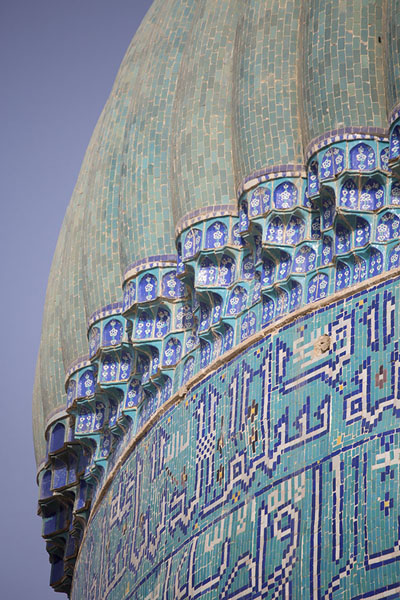 Foto di Close-up of the dome of the Green Mosque of BalkhBalkh - Afghanistan