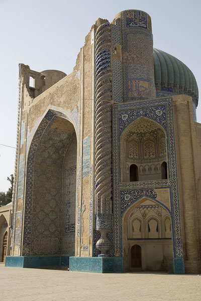 Picture of Old Balkh (Afghanistan): The Masjid Sabz, or Green Mosque, seen from the western side
