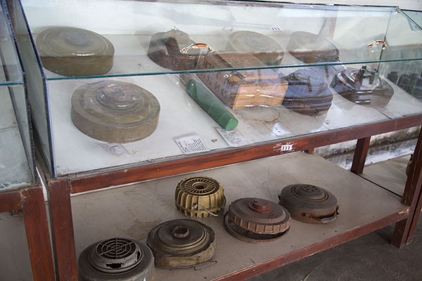 Examples of landmines found in Afghanistan | OMAR mine museum | Afghanistan