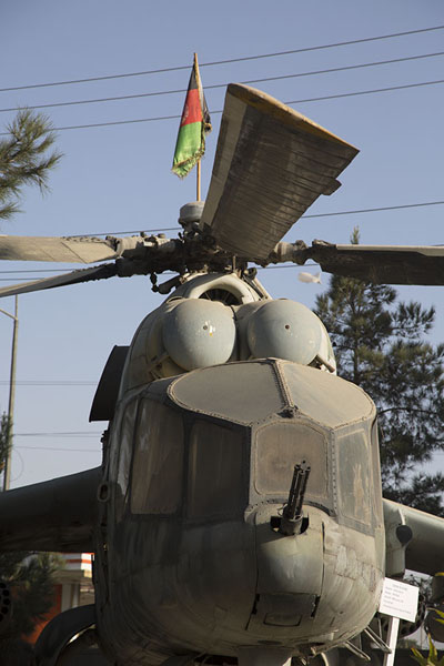 Picture of Soviet helicopter on display on the premises of the museumKabul - Afghanistan