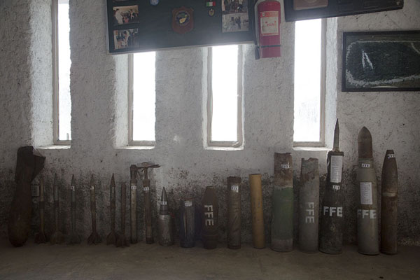 Explosive devices on display in the museum | OMAR mine museum | 阿富汗