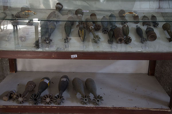 Foto van Collection of grenades in the museumKaboel - Afghanistan
