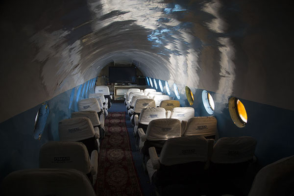 Classroom inside the Yak aircraft | OMAR mine museum | Afghanistan