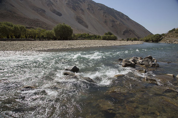 The Panjshir river surrounded by mountains | Panjshir Valley | Afghanistan