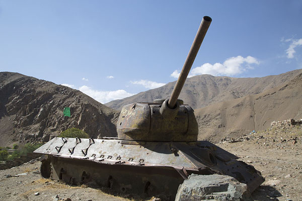 Soviet tank in the Panjshir valley - 阿富汗