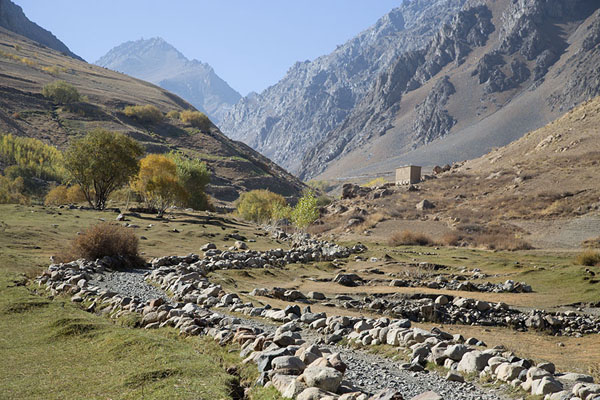 Track defined by stones in Qazan valley | Qazan Valley | Afghanistan