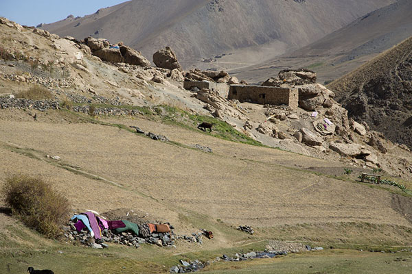 Picture of Qazan Valley (Afghanistan): House in Qazan valley with laundry drying in the sun