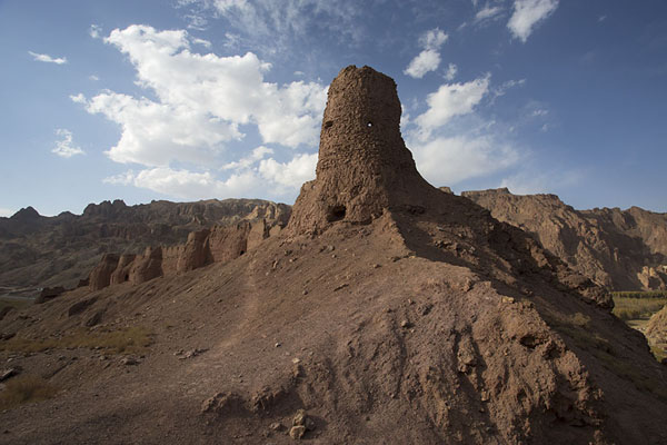 One of the towers of Shahr-e-Zohak with the city walls | Shahr-e-Zohak | Afghanistan