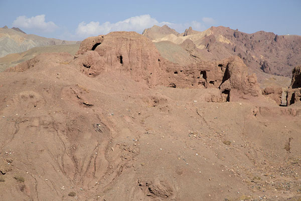 Foto di Ruins of the Red City on top of a hillShahr-e-Zohak - Afghanistan