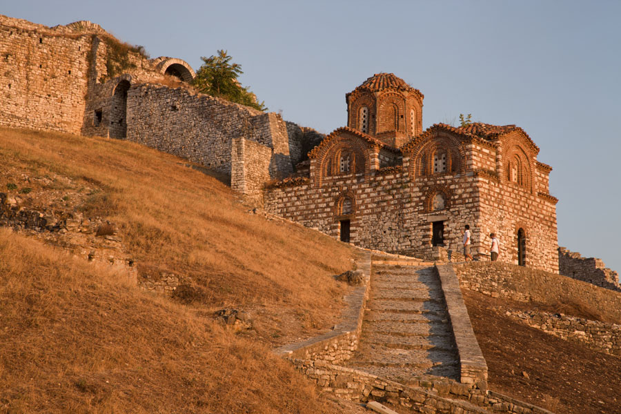 The Church of the Holy Trinity in the late afternoon light | Berat Citadel | Albania