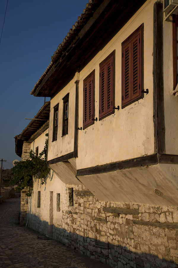 Typical houses Ottoman style in the citadel of Berat | Berat Citadel | Albania