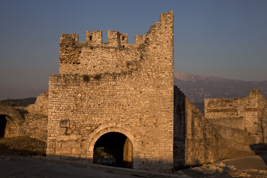 The ruins of the citadel wall near the main gate | Berat Citadel | Albania