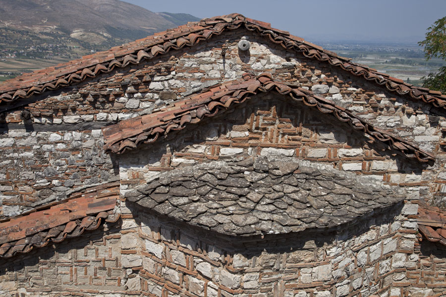 Layered roofs of the St Mary Blachernae Chapel in the citadel of Berat | Berat Citadel | Albania