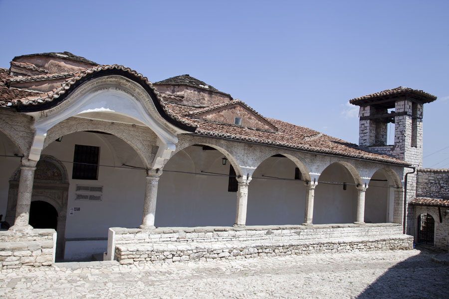 Picture of Courtyard and sideview of the Church of the Dormition of St Mary, now the Onufri Museum